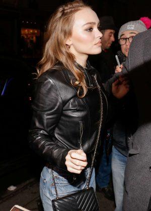 Lily Rose Depp - Arrives at 'C a Vous' TV Studio in Paris