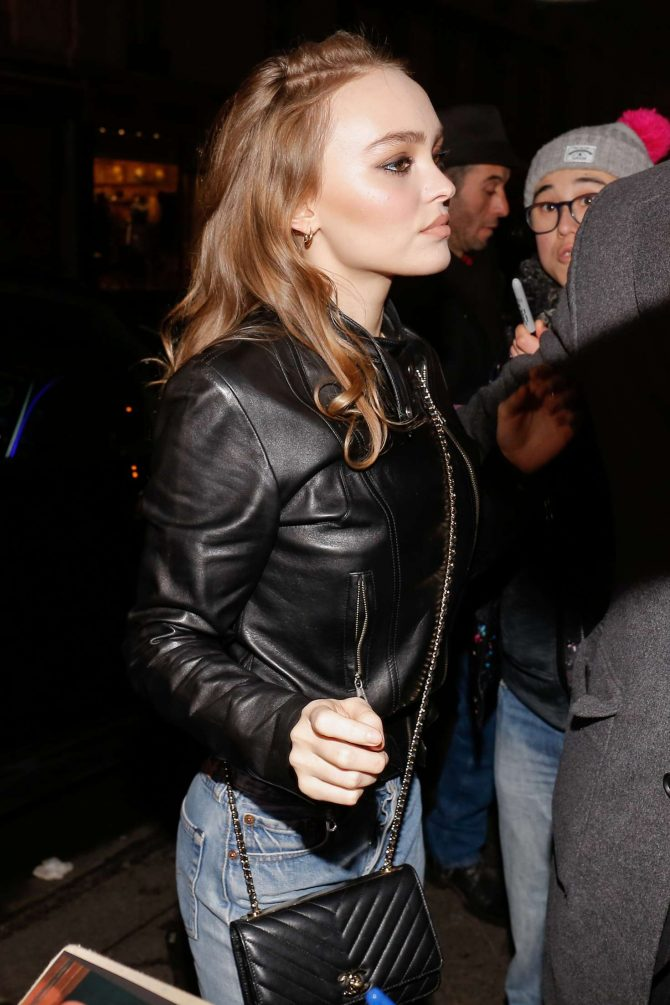 Lily Rose Depp - Arrives at 'C a Vous' TV Studio in Paris