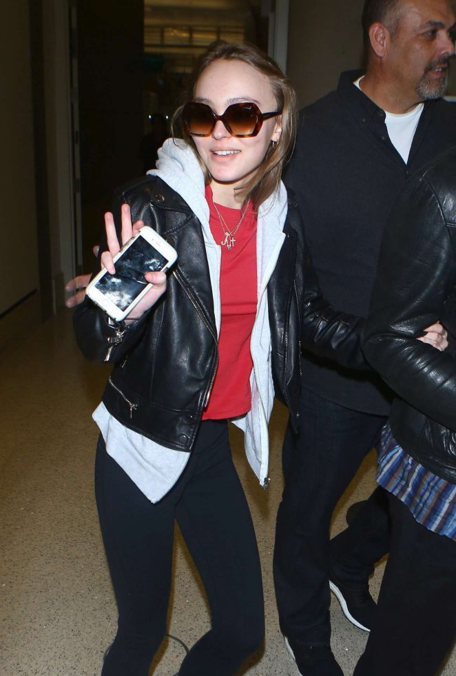 Lily Rose Depp - Arrives at LAX Airport in Los Angeles