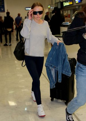 Lily Rose Depp Arriving at Airport in Nice