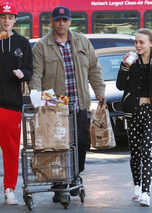 Lily Rose Depp at a supermarket in Los Angeles