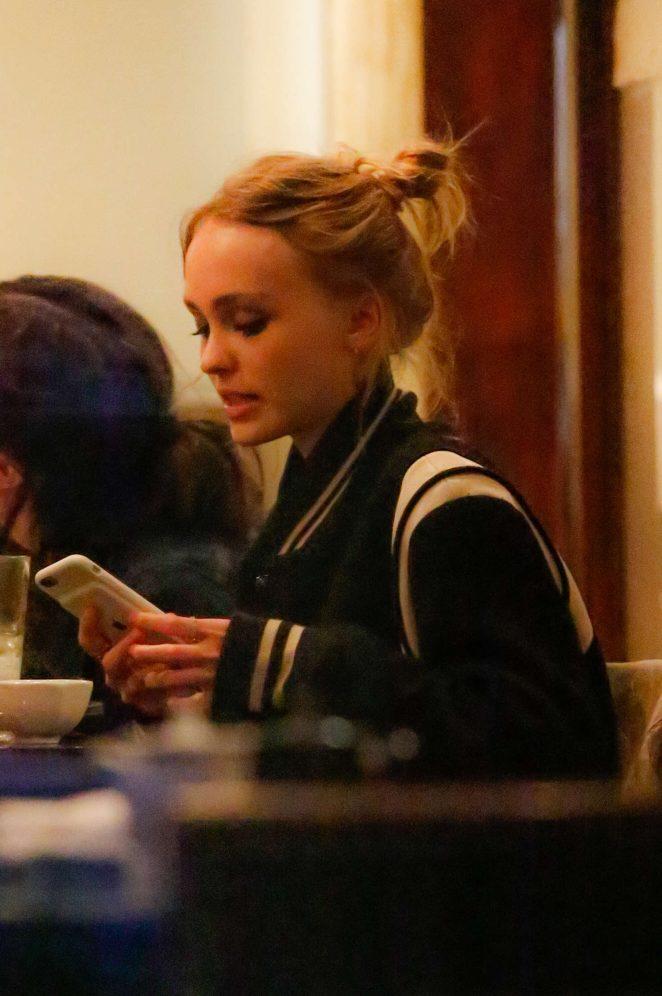 Lily Rose Depp at Kiwami Sushi -03