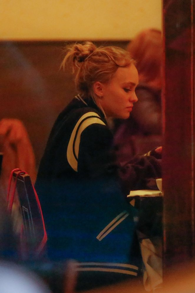 Lily Rose Depp at Kiwami Sushi -08