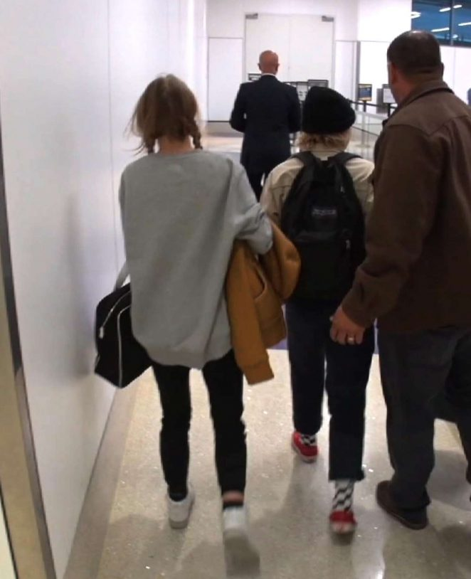Lily Rose Depp at LAX Airport -06