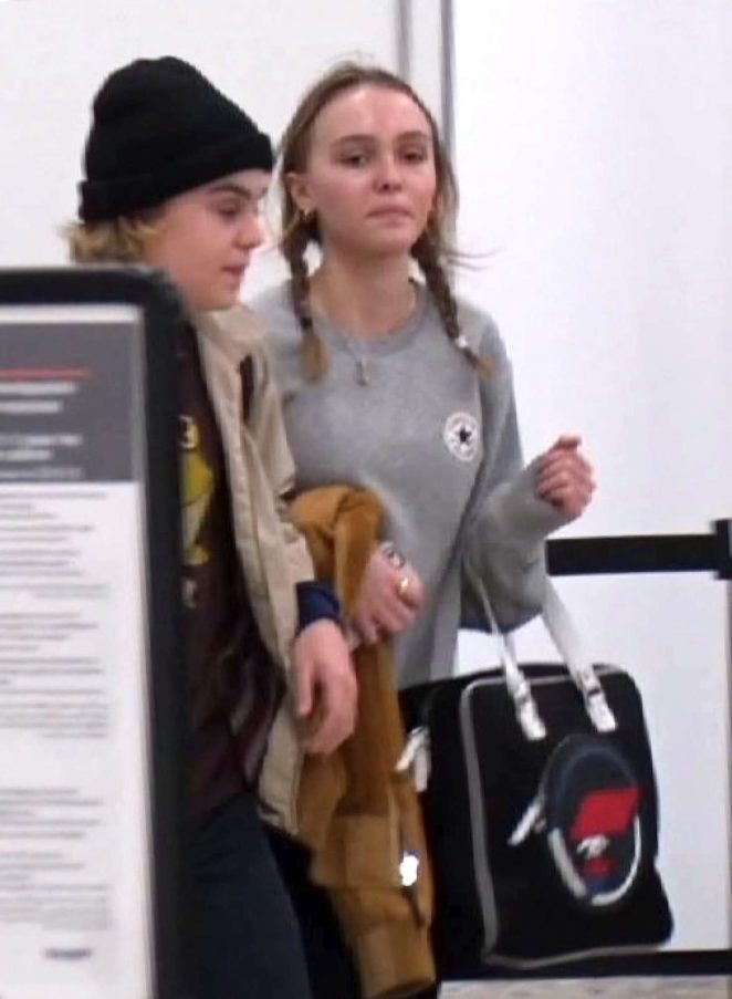 Lily Rose Depp at LAX Airport -07