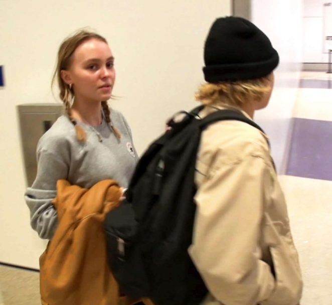 Lily Rose Depp at LAX Airport -08