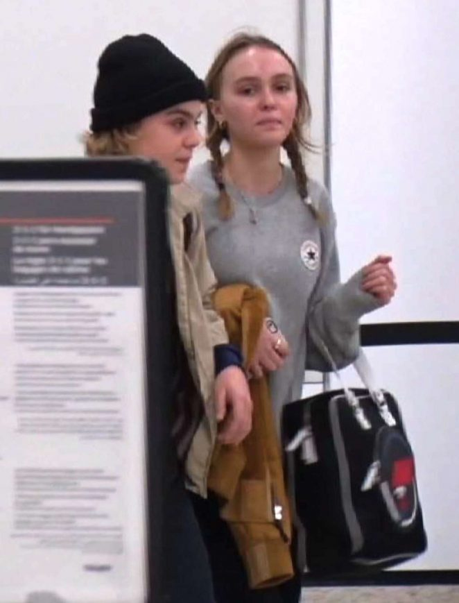 Lily Rose Depp at LAX Airport -12
