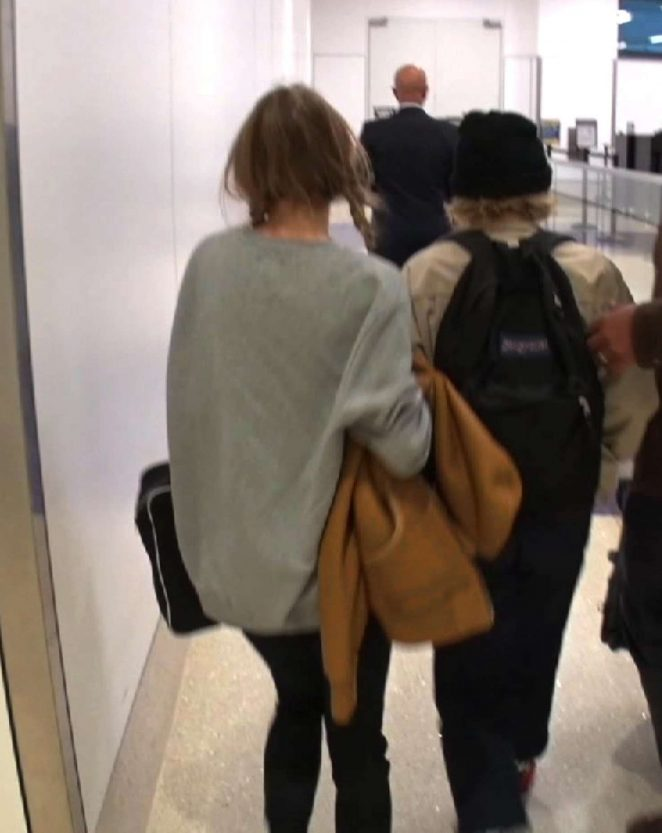 Lily Rose Depp at LAX Airport -14