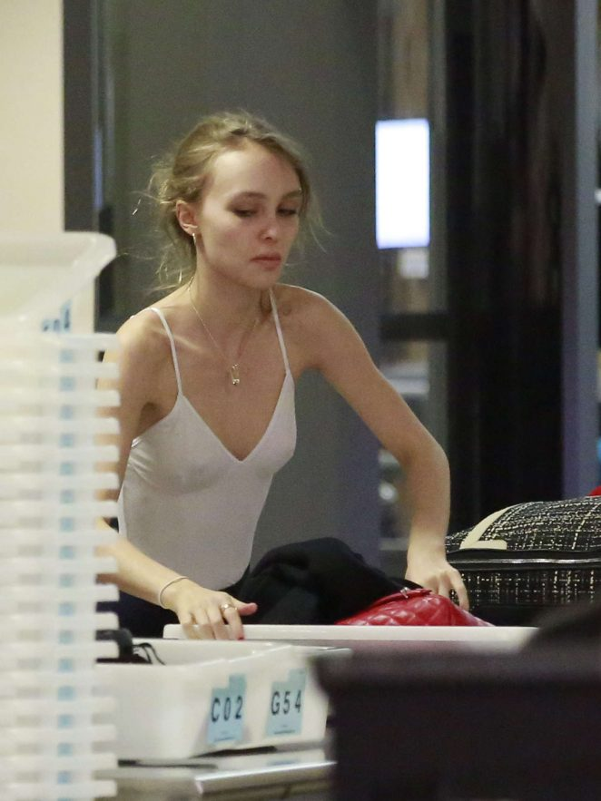 Lily Rose Depp at LAX Airport in Los Angeles