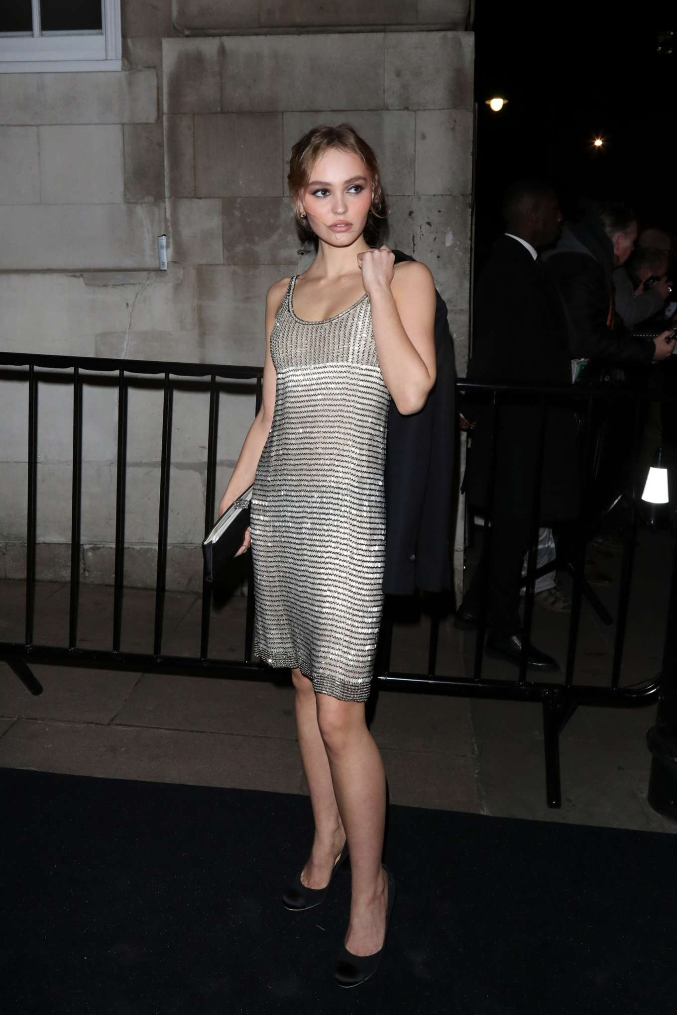 Lily Rose Depp at the Charles Finch and CHANEL Pre-BAFTA Party in London