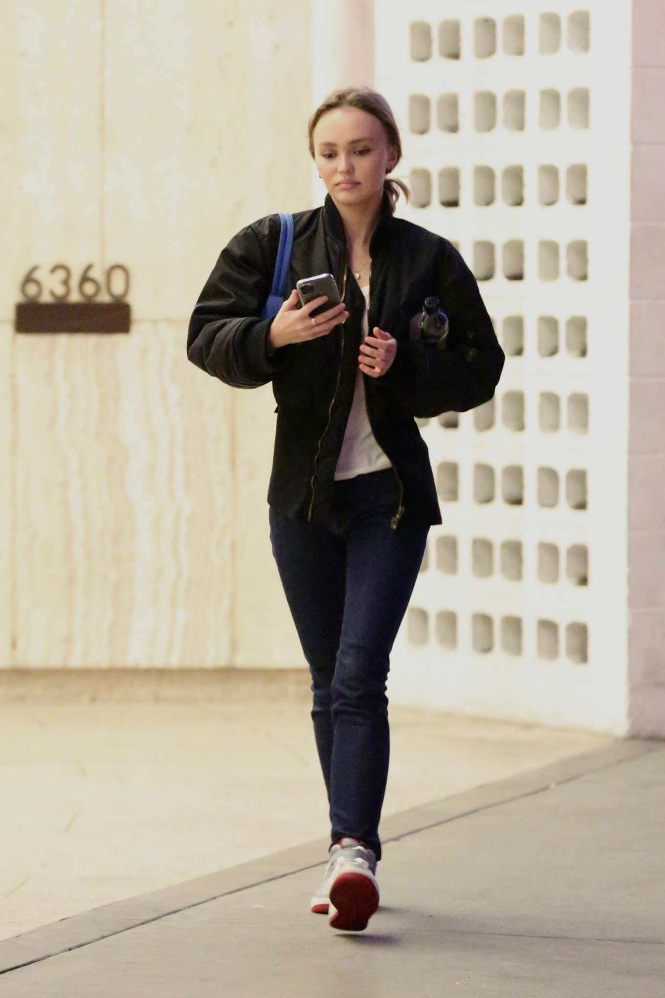 Lily Rose Depp - Catches a movie in Los Angeles