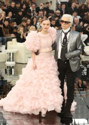 Lily Rose Depp - Chanel Show SS 2017 in Paris