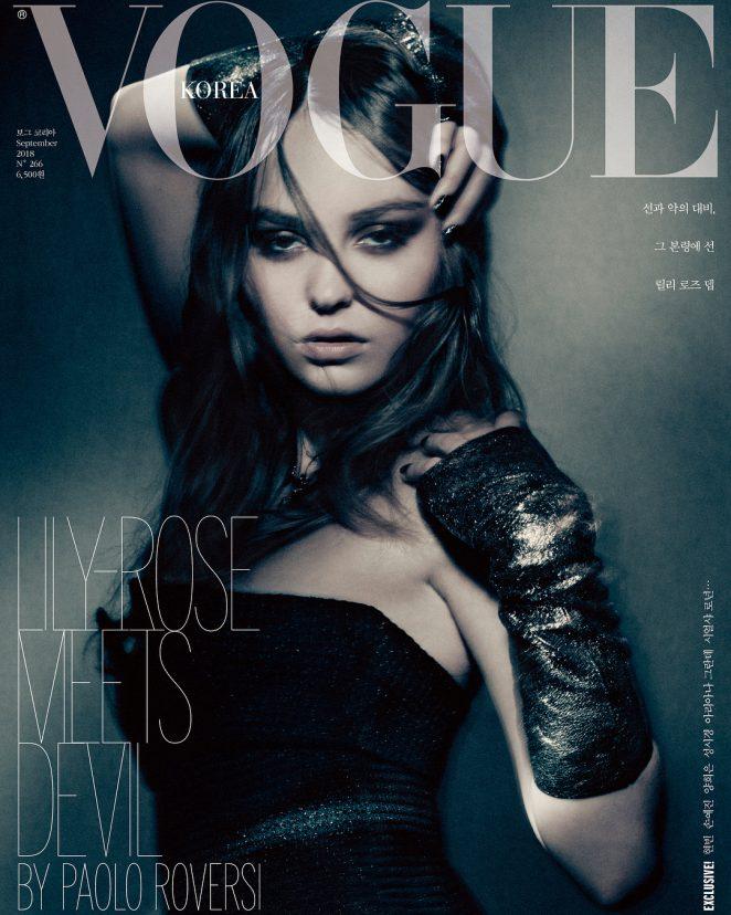 Lily Rose Depp for Vogue Korea Cover (September 2018)