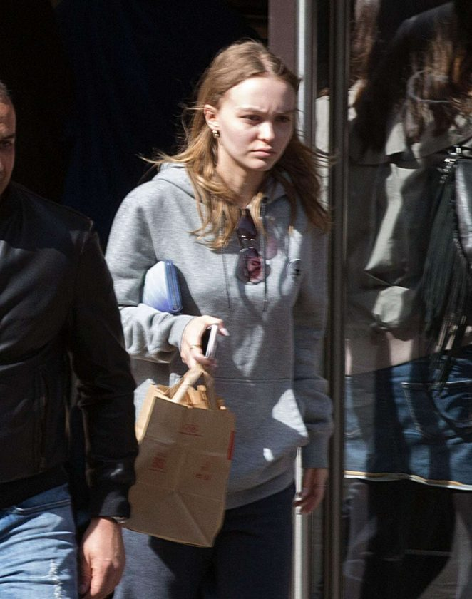 Lily Rose Depp Heads to McDonald's in Paris