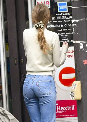 Lily Rose Depp in Jeans out in Paris
