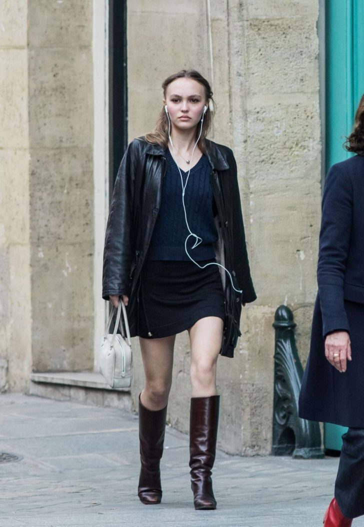 Lily Rose Depp in Mini Dress -05