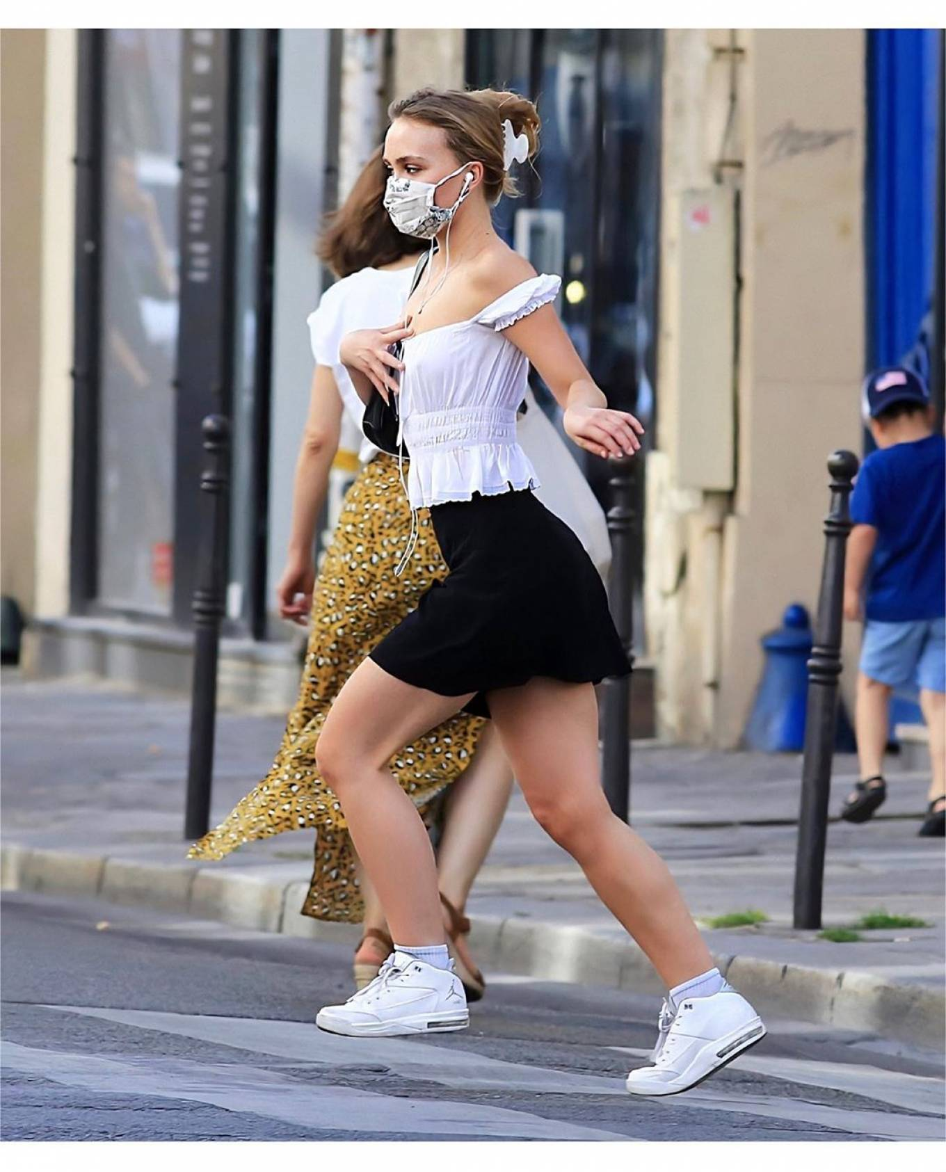 Lily-Rose Depp in Mini Skirt - Out in Paris