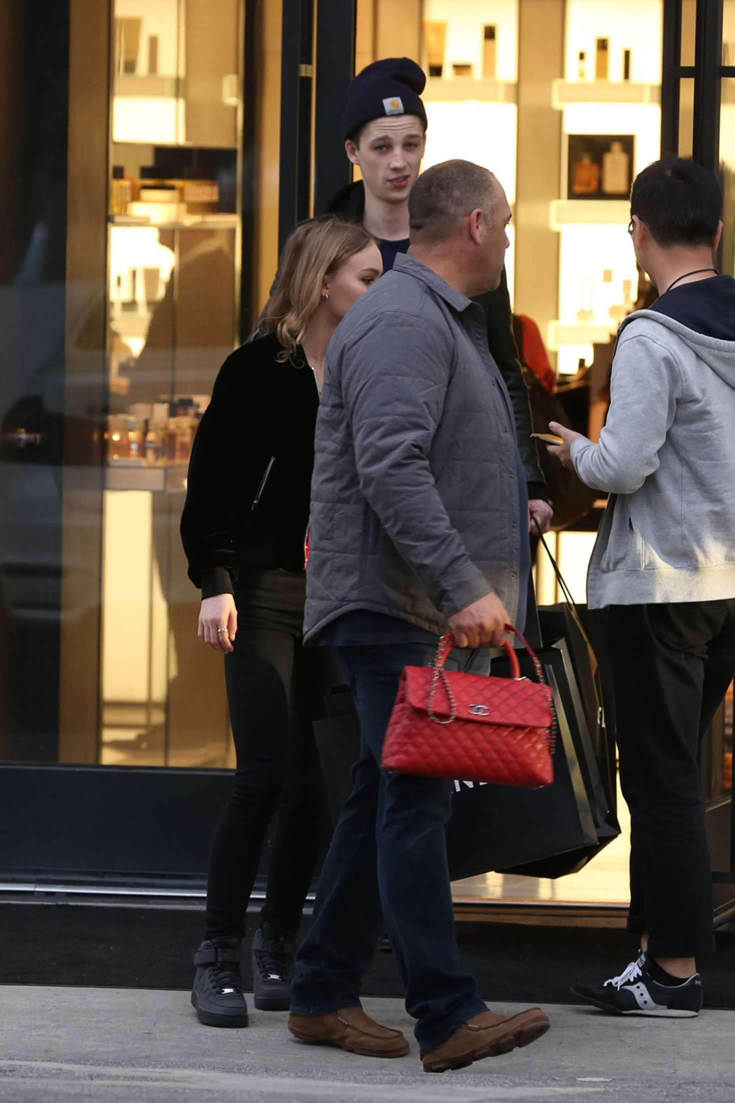 Lily rose depp leaves chanel after a shopping spree in beverly hills - 2019 year
