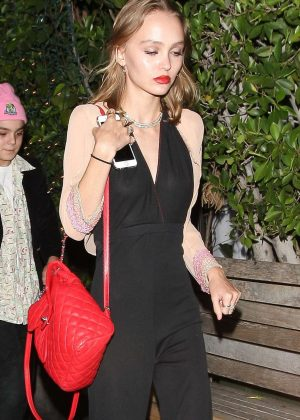 Lily Rose Depp - Leaving a memorial at Ago's in West Hollywood