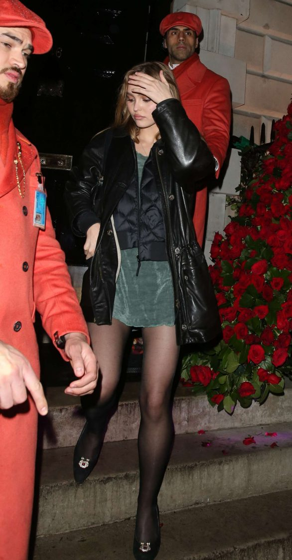 Lily-Rose Depp - Leaving Annabel's in London