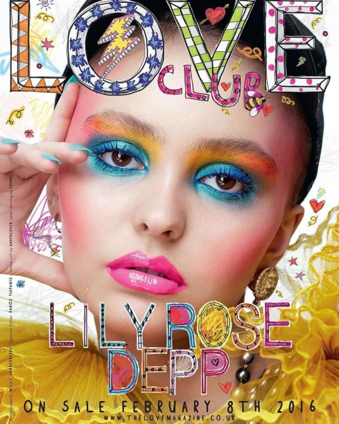 Lily Rose Depp - LOVE Magazine Cover (Spring 2016)