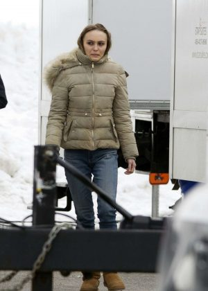 Lily Rose Depp - On the set of 'Dreamland' in Montreal