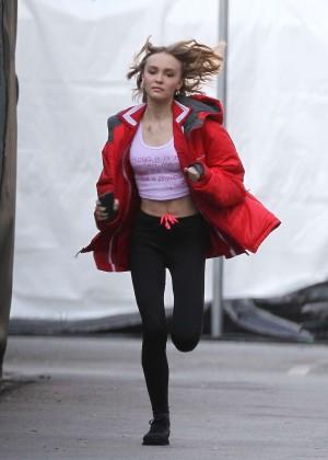 Lily Rose Depp on Yoga Hosers set -03
