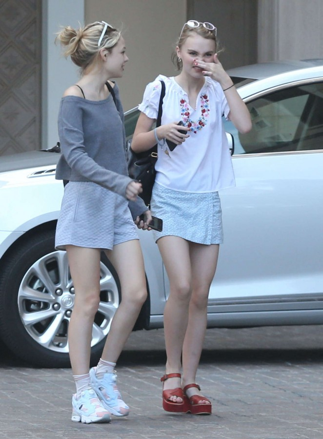 Lily Rose Depp in Mini Skirt -09