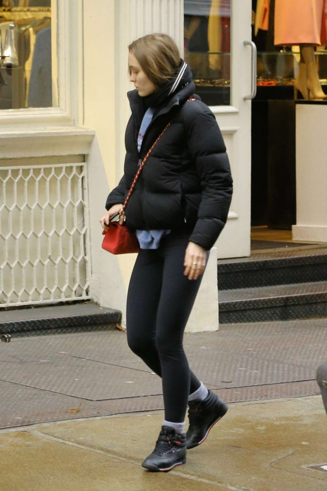 Lily Rose Depp - Out and about in New York
