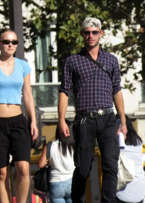 Lily Rose Depp - Out and about in Paris