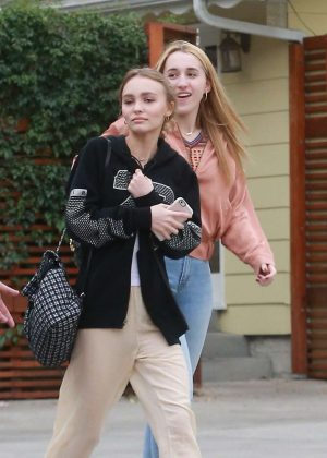 Lily Rose Depp out for lunch with friends in Studio City