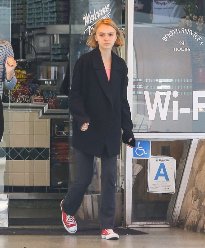 Lily Rose Depp out in Hollywood