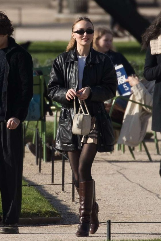 Lily Rose Depp: Out in Paris -02