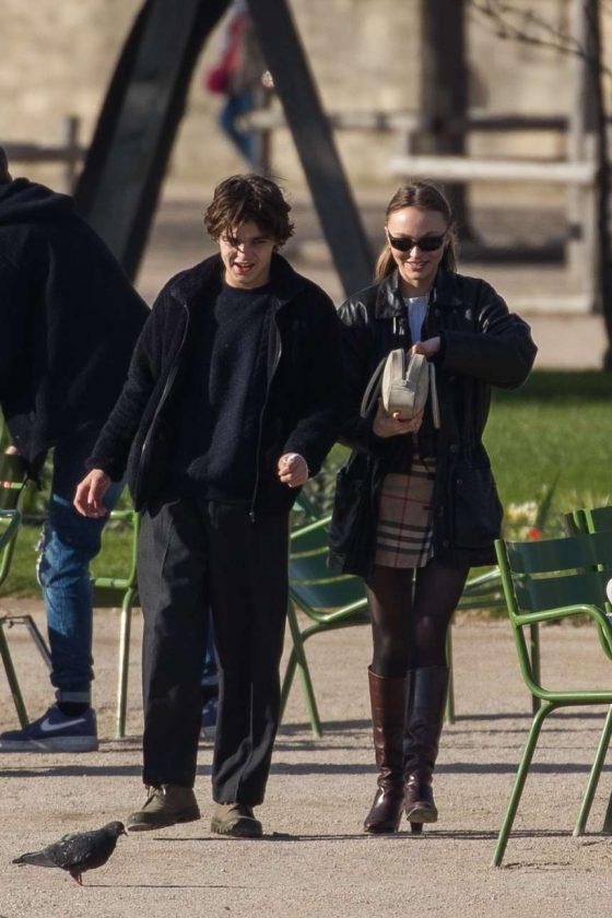 Lily Rose Depp: Out in Paris -06