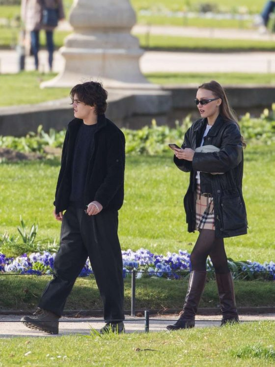 Lily Rose Depp: Out in Paris -07
