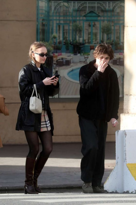 Lily Rose Depp: Out in Paris -08