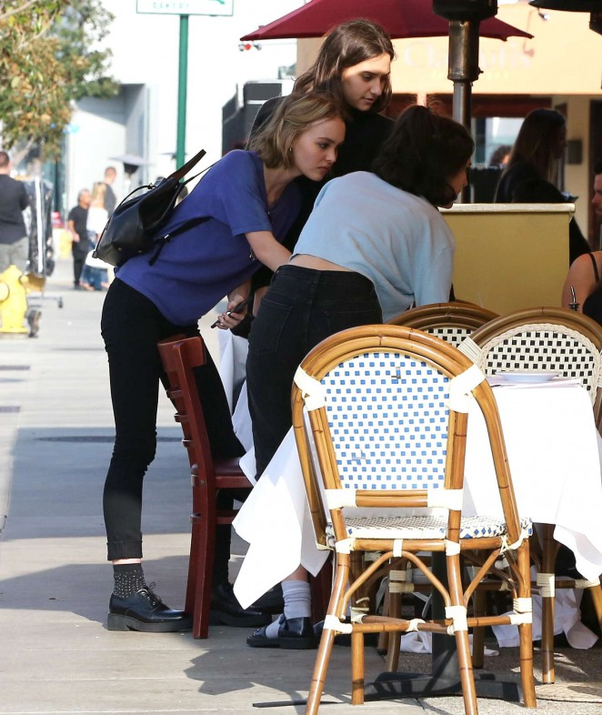 Lily Rose Depp - Out to Lunch in Beverly Hills
