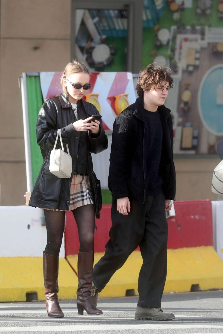 Lily Rose Depp out with her brother in Paris