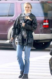 Lily Rose Depp - Outside of JFK airport in New York