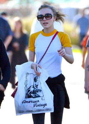 Lily Rose Depp - Shopping at a Local Flea Market in Los Angeles