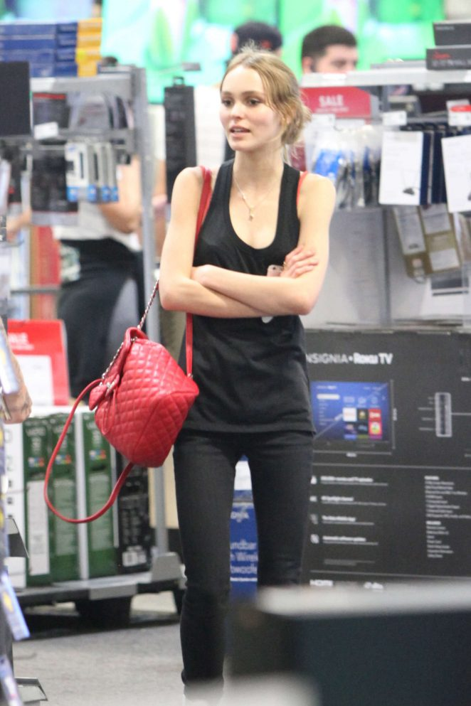 Lily Rose Depp - Shopping at Best Buy in Hollywood