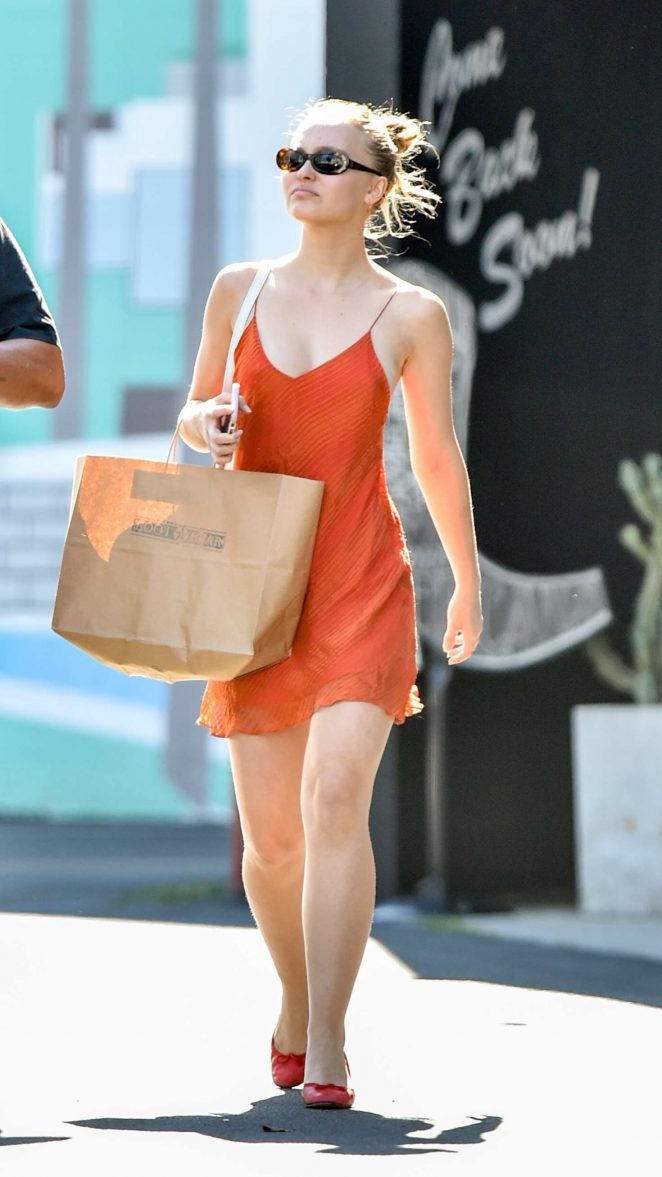 Lily Rose Depp - Shopping at Boot Star in West Hollywood