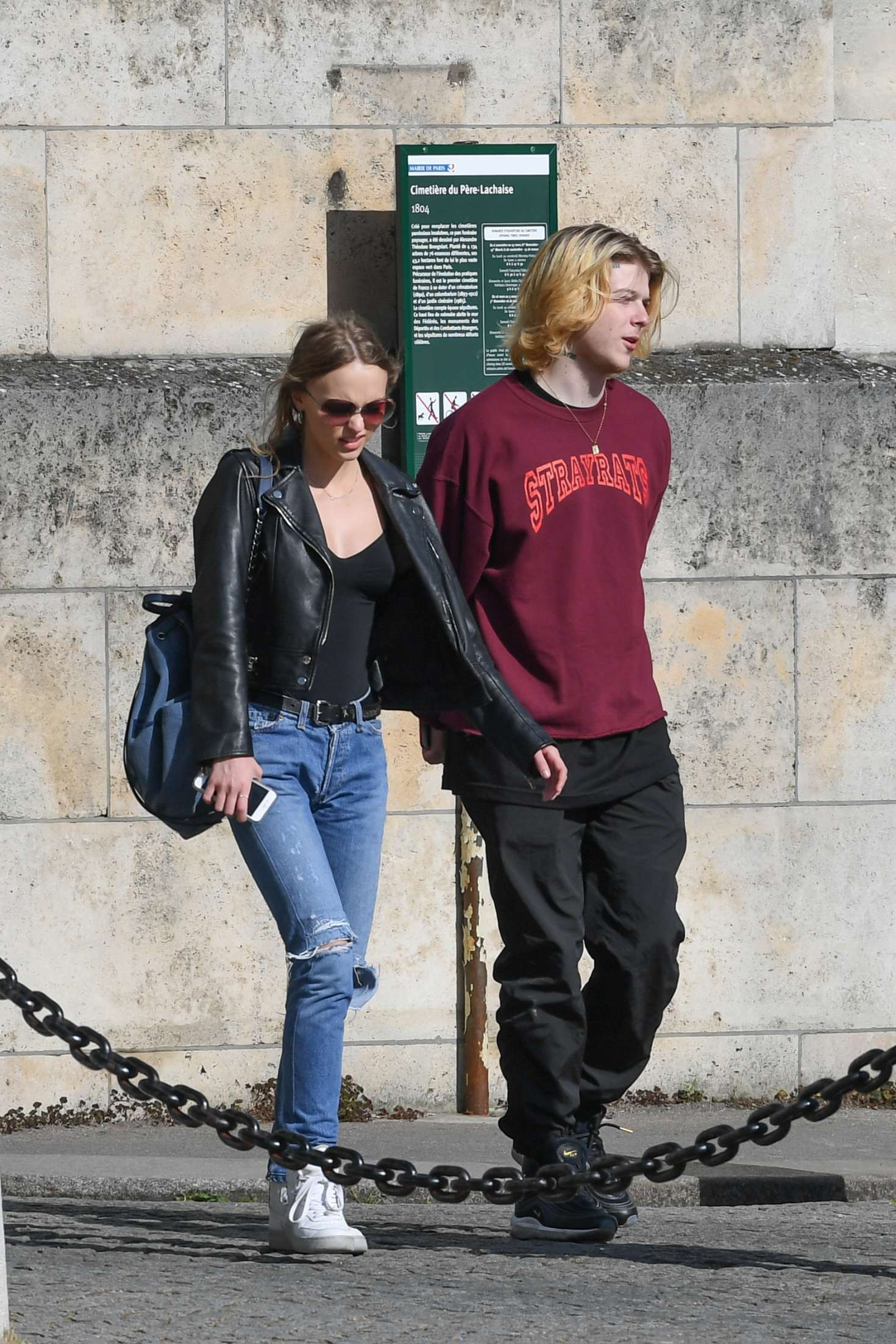 Lily Rose Depp Shopping at Colette in Paris