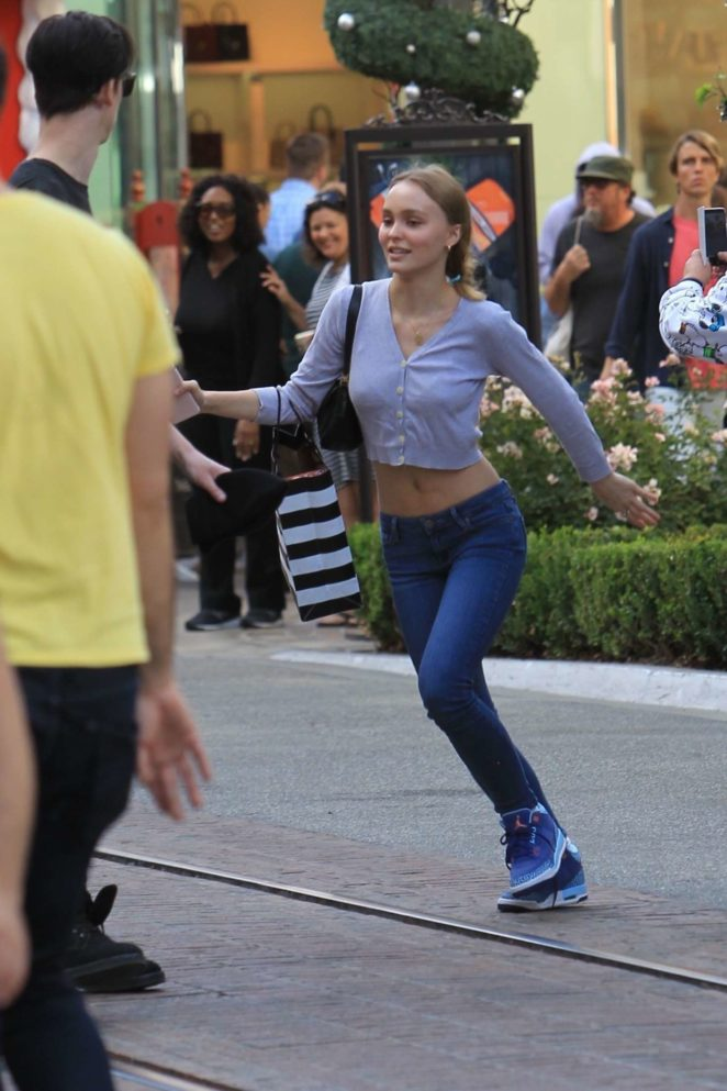 Lily Rose Depp - Shopping at The Grove in LA