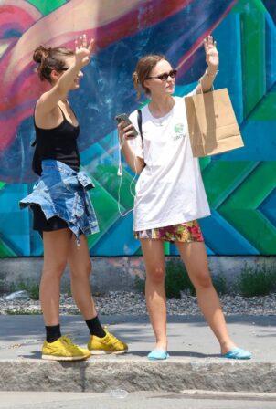 Lily-Rose Depp - Shopping candids around Manhattan's East Village in New York