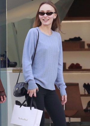 Lily Rose Depp - Shopping in West Hollywood