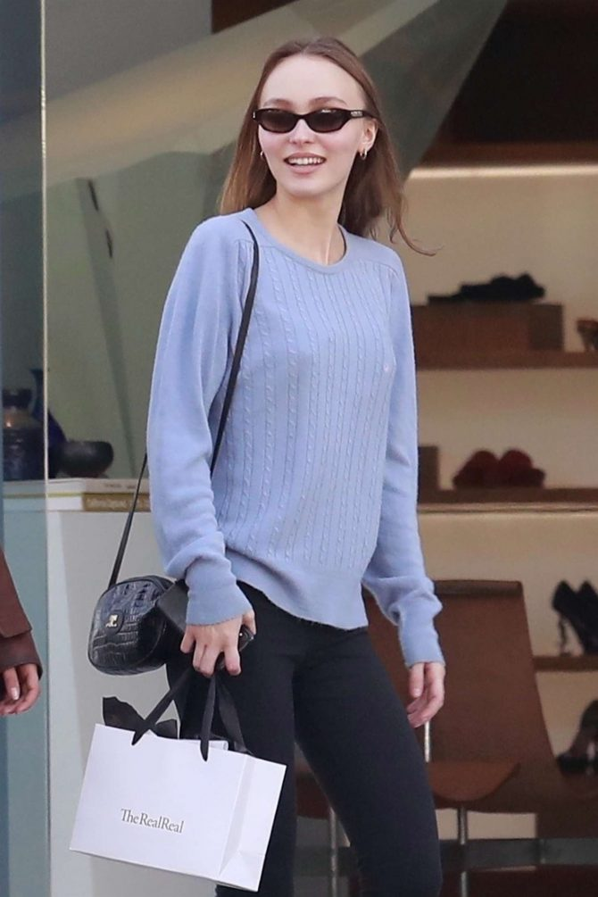Lily Rose Depp – Shopping in West Hollywood