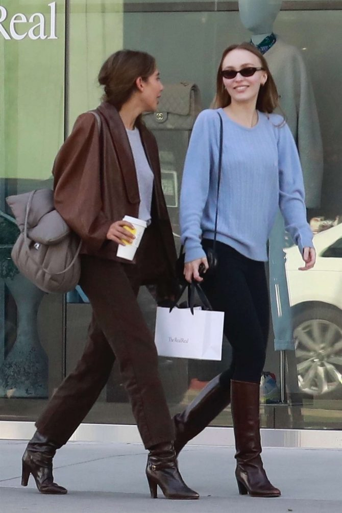 Lily Rose Depp: Shopping in West Hollywood -04