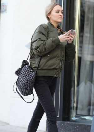 Lily Rose Depp - Shopping on Rodeo Dr. in Beverly Hills