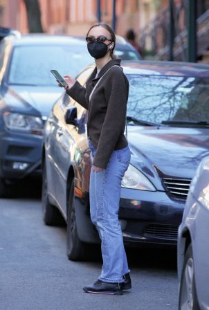 Lily-Rose Depp - Waits for an Uber in New York